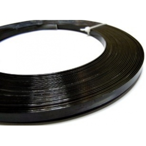 Flat Aluminium Wire 5mm - Black