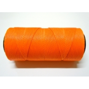 Polyester Brazilian Waxed 1mm - Fluorescent Orange 0393