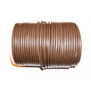 Leather Cord 3mm - Dark Brown 103