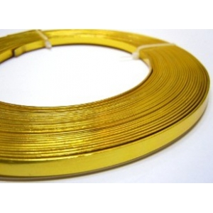 Flat Aluminium Wire 5mm - Gold Plated