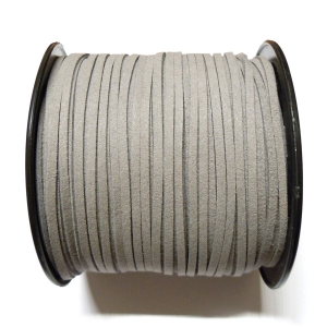 Imitation Flat Suede Cord 3mm - Grey 19