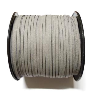 Imitation Flat Suede Cord 3mm - Grey 19