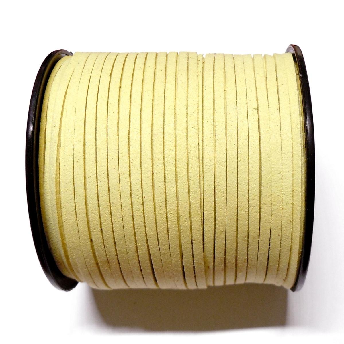 Imitation Flat Suede Cord 3mm - Light Yellow 31
