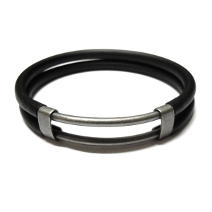 4mm Hollow Rubber Bracelet
