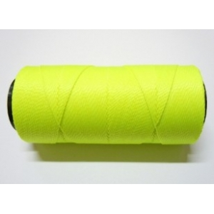 Polyester Braqzilian Waxed 1mm - Fluorescent Yellow 0326