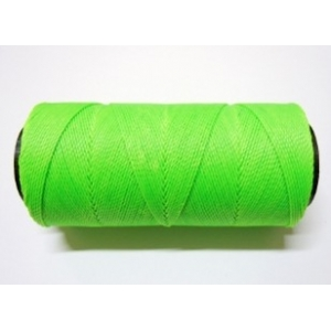 Polyester Brazilian Waxed 1mm - Fluorescent Green 0329
