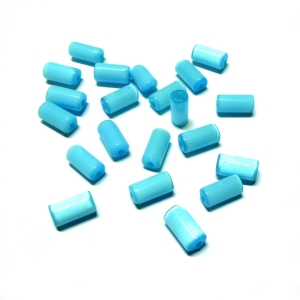 Irregular Glass Tube - Aqua Blue