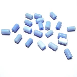 Tubo Cristal Irregular - Azul Claro