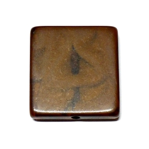 """Nest"" Methacrylate Square 22mm - Dark Brown"