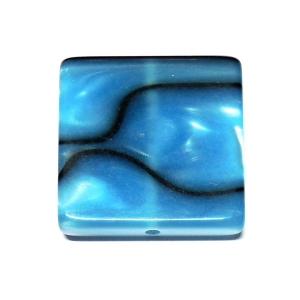 Cuadrado Metacrilato 22mm - Azul Con Rayas Negras