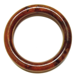 Methacrylate Ring 60mm - Speckled Reddish Brown