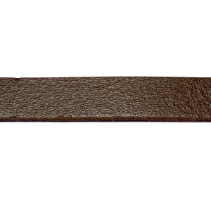 Flat Leather Cord 10mm - Dark Brown