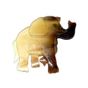 Small Elephant Horn Pendant