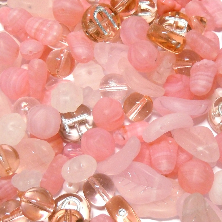Glass Bead Mix - Pink