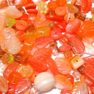 Glass Bead Mix - Orange