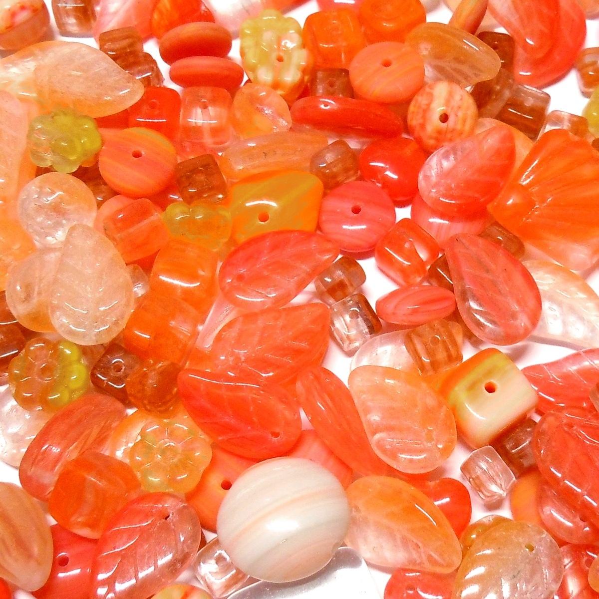 Glass Bead Mix - Orange