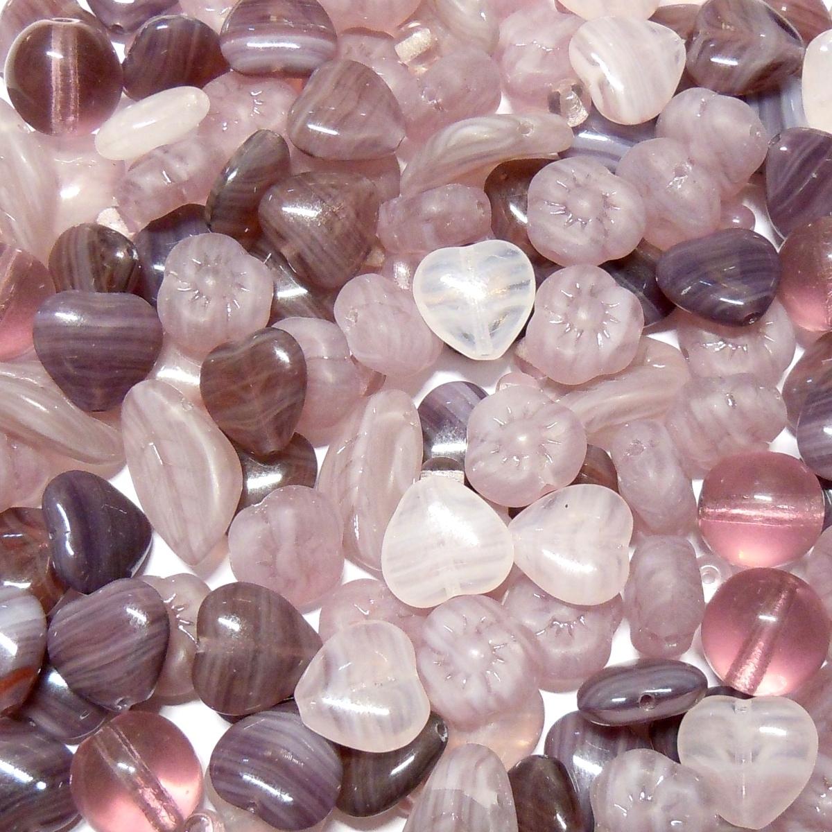 Glass Bead Mix - Purple