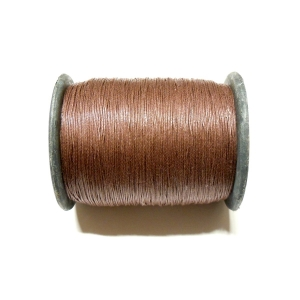 Cotton Waxed Cord 0.6mm - Dark Brown