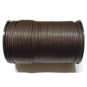 Cotton Waxed Cord 2mm - Dark Brown