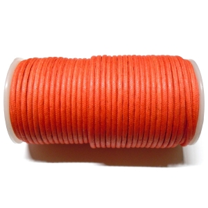 Cotton Waxed Cord 3.8mm - Orange