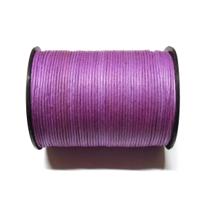 Cotton Waxed Cord 1mm - Dark Purple 133