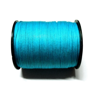 Cotton Waxed Cord 1mm - Blue 108