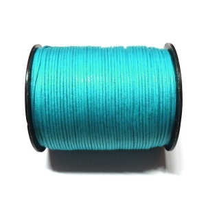 Cotton Waxed Cord 1mm - Blue 107