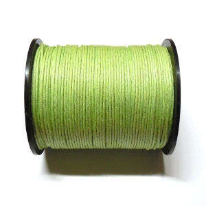 Cotton Waxed Cord 1mm - Light Green 123