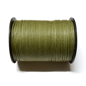 Cotton Waxed Cord 1mm - Khaki Green 113