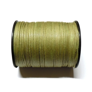 Cotton Waxed Cord 1mm - Light Khaki Green 114