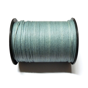 Cotton Waxed Cord 1mm - Greyish Blue 126