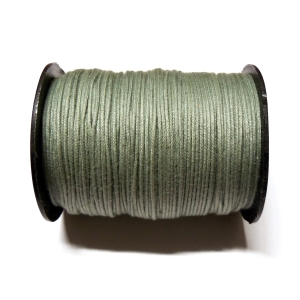 Cotton Waxed Cord 1mm - Greyish Green 41