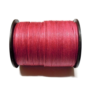 Cotton Waxed Cord 1mm - Fuchsia 131