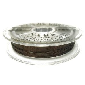 Hilo De Cobre 0.3mm - Caqui Oscuro