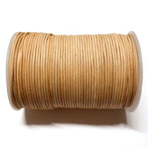 Leather Cord 2mm - Natural 101