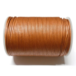 Leather Cord 2mm - Antique Copper 144