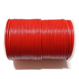 Cordon Cuero 2mm - Rojo 105