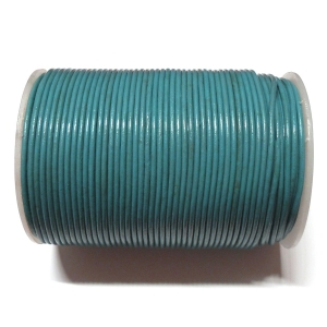 Cordon Cuero 2mm - Azul 124