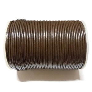 Leather Cord 2mm - Dark Brown 103