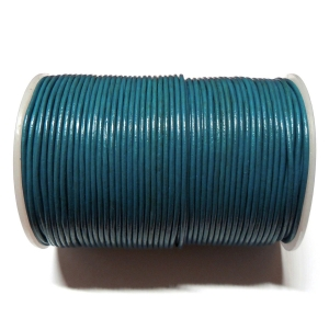 Leather Cord 2mm - Blue 106