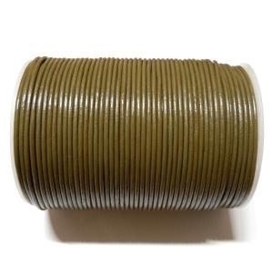 Cordon Cuero 2mm - Verde Caqui 137