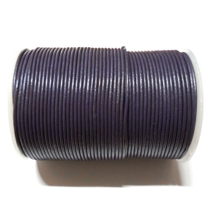 Leather Cord 2mm - Violet 111