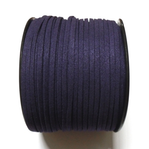 Imitation Flat Suede Cord 3mm - Dark Blue 45