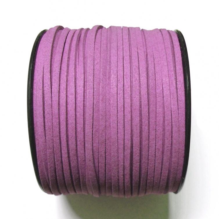 Imitation Flat Suede Cord 3mm - Purple 54