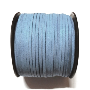 Imitation Flat Suede Cord 3mm - Blue 10