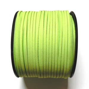 Imitation Flat Suede Cord 3mm - Light Green 65