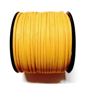 Imitation Flat Suede Cord 3mm - Dark Yellow 49