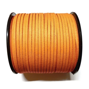 Imitation Flat Suede Cord 3mm - Orange 28