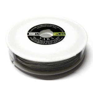 Nylon Coated Stainless Steel Wire 0.45mm (20 Lbs) - Steel