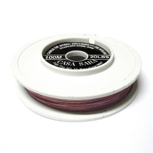 Cable Acero Recubierto De Nylon 0.45mm (20 Lbs) - Lila